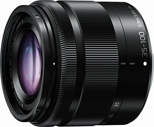 Panasonic H-FS35100E LUMIX G Vario Telezoom 35-100 mm F4.0-5.6 ASPH. Objektiv (70-200 mm KB, O.I.S. Bildstabilisator) schwarz