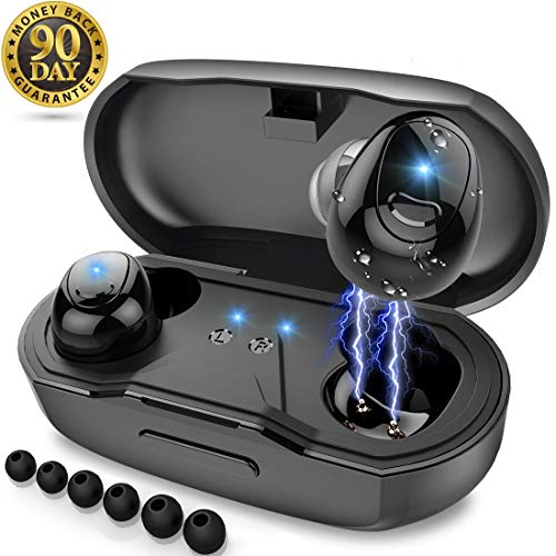 Bluetooth Headphones,AUPAI Sports Wireless Earbuds HiFi Bass Stereo w/Mic,IPX7 Waterproof,8 Hours Long Play Time in Ear Headset,Good Sound Wireless Headphones for Gym,Running,Workout,Music Audiobook