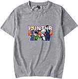 MINIDORA HxH Hunter x Hunter Multicolor Camiseta para Hombres Anime Manga Corta Unisex Camiseta Casual XXL,Gris 46757