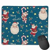 クリスマスプレゼントクリスマスサンタクロース マウスパッド ゲーミングマウスパッド ラップトップマット pcマウスパッド リストレスト ラバーマット 滑り止め 耐久性 高級感 25*30