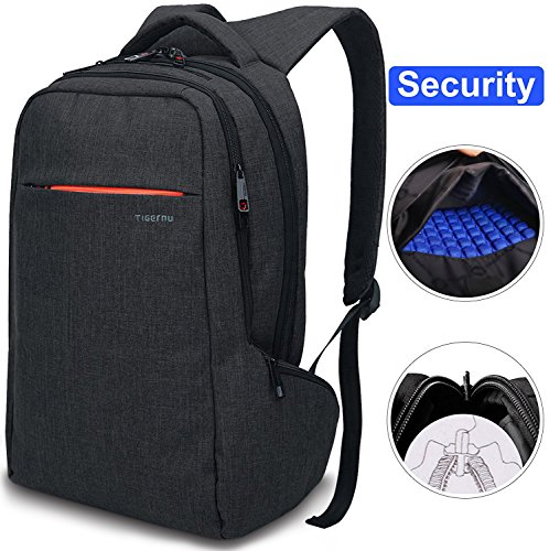 Security Enhanced - LAPACKER 15.6 Anti Theft Slim Water Resistant Laptop Backpack Bag