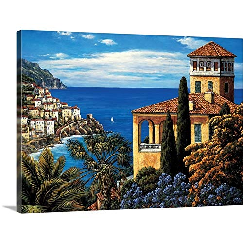 "The Amalfi Coast Canvas Wall Art Print, 40""x30""x1.25"""