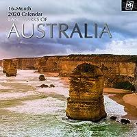 2020 壁カレンダー – オーストラリアのランドマーク 12 x 12インチ 月間ビュー 16ヶ月 旅先テーマ 180リマインダーステッカー付き