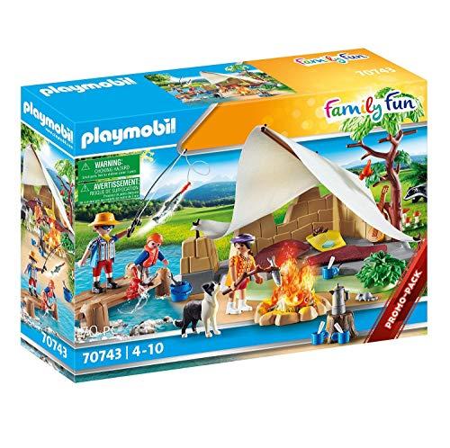PLAYMOBIL Family Fun 70743 - Familia de Viaje de Camping (4 años)