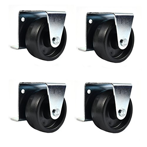 Combo Solutions Caster Wheels for Trundle Bed Steel Zinc Frames (Pack of 4)