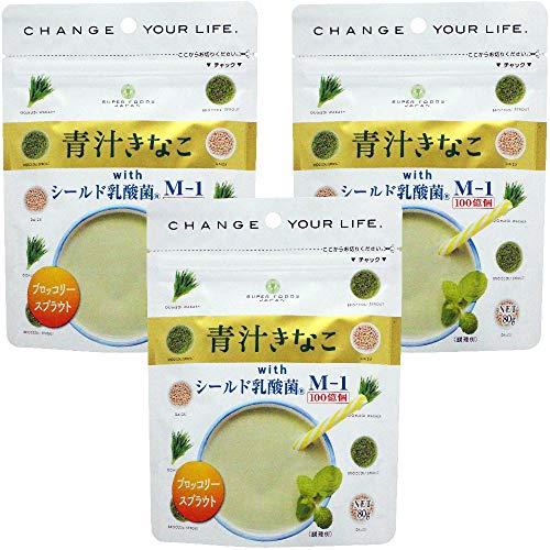 青汁きなこ with シールド乳酸菌M-1 80g×3袋