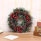 PDGJG Christmas Wreath Handmade Rattan Pendant Garland Shopping Mall Door Decoration Advent Wreath (Size : Style 4)
