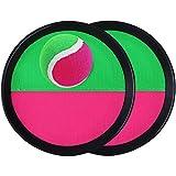 TOYANDONA Set Palla con Palla Presa-2 Racchette + 1 Palla Interessante Gioco All'aperto per Giocare...