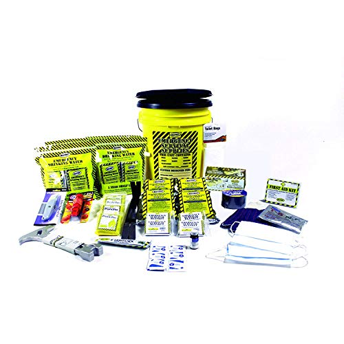 Mayday Industries Earthquake Kit 4 Person Deluxe Home Honey Bucket Survival Emergency