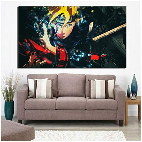 Kunstdruck auf Leinwand, Motiv: japanischer Comic Naruto, 50 x 90 cm, ohne Rahmen
