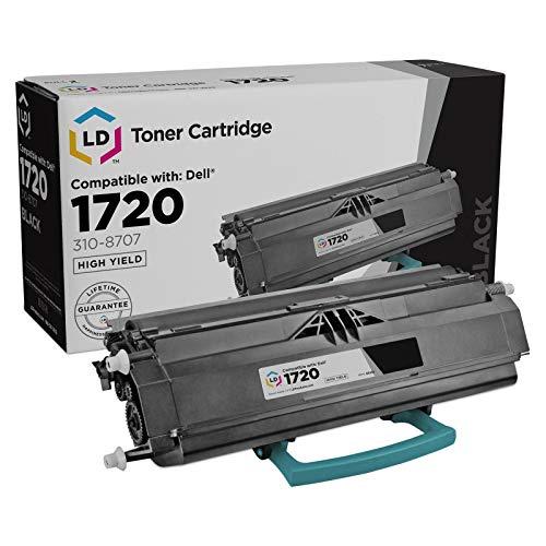 LD Remanufactured Toner Cartridge Replacement for Dell Color Laser 1720 310-8707 GR332 (Black)