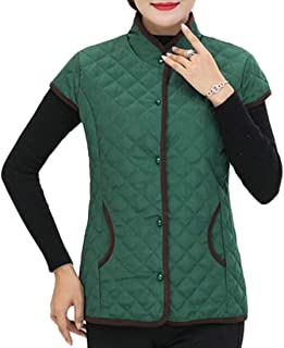 Women's Stand Collar Warm Thickened Outwear Down Puffer Jacket Vest