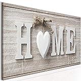 decomonkey Bilder Home Haus 120x40 cm 1 Teilig