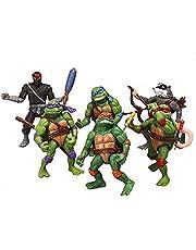 YILUXIANG Teenage Mutant Ninja Turtles Action Figures Mutant Teenage Toys of 6pcs Leonardo/Leo Donatello/Donnie Michelangelo/Mikey Raphael/Raph Hamato Yoshi/Splinter/April O'Neil Set