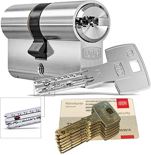DOM iX Twido 333iX7T Doppelzylinder mit 6 Schlüssel, Länge (a/b) 40/40mm (c= 80mm), mit Sicherungskarte, mit Not- u. Gefahrenfunktion