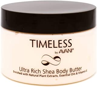 Timeless by AVANI Ultra Rich Shea Body Butter | Enriched with Natural Plant Extracts, Essential Oils, Vitamin E | Leaves Skin Soft & Silky Smooth - 9.35 oz.