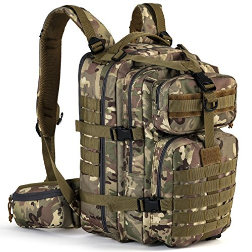 Gelindo Military Tactical Backpack, Army Molle Bag, Small Rucksack, Hydration Backpack Perfect for Hunting, Survival, Camping, Trekking, School