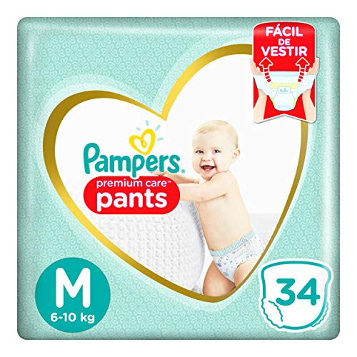 Fralda Pampers Pants Premium Care M 34 unidades, Pampers