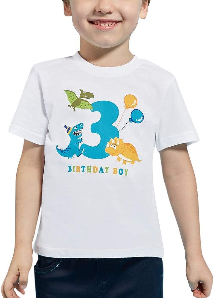 3rd Birthday Shirt boy Dinosaur Party 3 Year Old Toddler B-Day T-Shirt Tee