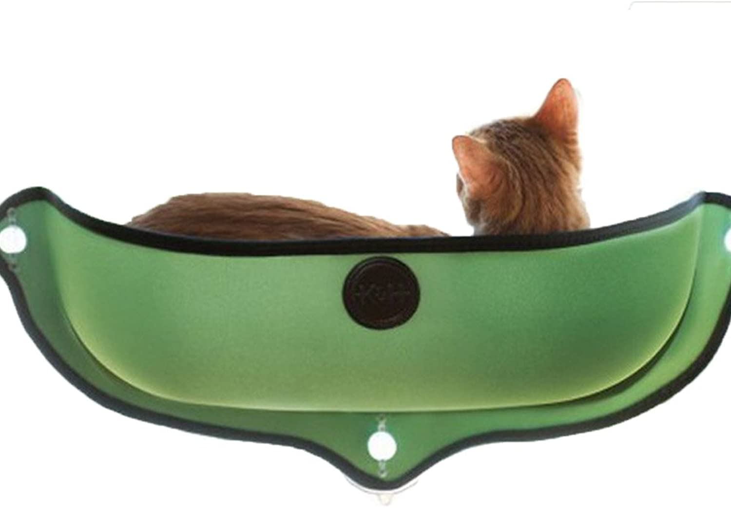 Cat Hammock Cat Sucker Windows and Windows Cage Semicircle Kennel Sun Baskles with Cat Pad (68.628cm, Green)