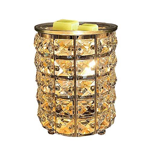 Schmiedeeisen Kristall Wachs Schmelze Wärmer Elektrischer Ölbrenner Wachs Schmelze Für Zuhause, Küche, Wohnzimmer, Schlafzimmer, SPA (Golden)