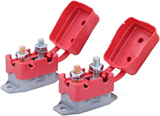 Gloaso 2pcs 30 Amps 12V 24V dc Car Trailer Trucks Boat Type 1 Automatic Reset Circuit Breakers w/Cover #10-32 Studs Terminals Replacement
