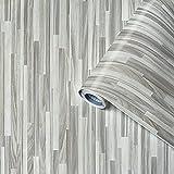 Pellicole adesive effetto legno Perfect Fix® Parchetto grigio, Foglio adesivo, foglio decorativo, foglio decorativo, foglio autoadesivo, PVC, senza ftalati, 45 cm x 2 m, spessore 0,15mm, Venilia 53337