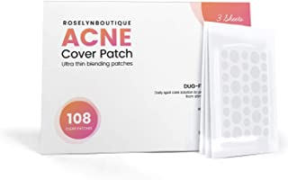 Acne Absorbing Cover Pimple Patch - Acne Spot Treatment - Hydrocolloid, Tea Tree, Calendula Oil, CICA - 108 Patches