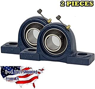 2 Piece 1-3/4 inch Pillow Block Bearing UCP209-28, Solid Base,Self-Alignment, Brand New by Jeremywell