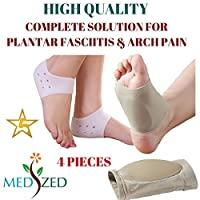 MEDIZED GEL Plantar Fasciitis Arch Support Sleeve Cushion Foot Pain Heel Insole Orthotic by Smartbargain