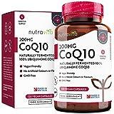 Coenzima Q10 200 mg - 100% Pura Fermentada Naturalmente - 120 Cápsulas Veganas de CoQ10 de...
