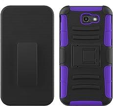JFXONE New Clip Holster + Shockproof Hybrid Kickstand Case Cover for ZTE Majesty PRO LTE Z798BL Z799VL (Purple)