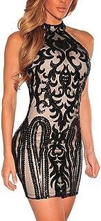 Vestidos Ropa De Moda para Mujer Sexys Cortos Largos Negros De Noche Casuales y Elegantes VE0068