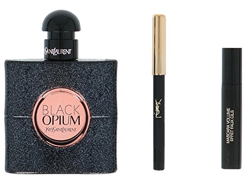 Yves Saint Laurent Black Opium Giftset, Eau de Parfum spray, mascara, pencil, per stuk (1 x 53 g)