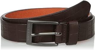 Armani Exchange Men's Crocodile Embossed Belt
