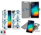 Funda Carcasa Xiaomi Mi4C Robot R2 Bleu Collection Pattern de almacenamiento innovadoras con tarjeta de la puerta interna - Estuche protector de Xiaomi Mi4C con fijación adhesiva reposicionable 3M