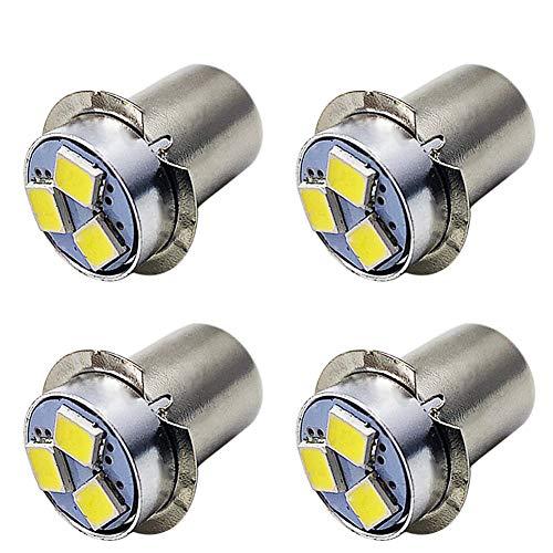 Ruiandsion - 4 lampadine LED P13.5S, 3 V, 2835, 4SMD, con chip LED, per fari, torce elettriche, non polarità