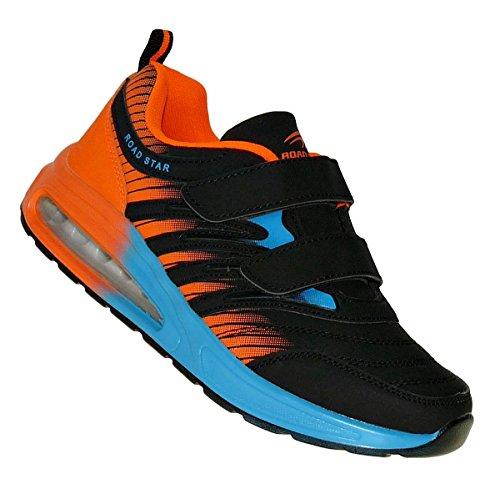 Bootsland 334 Neon Klett Turnschuhe Sneaker Sportschuhe Unisex, Schuhgröße:43