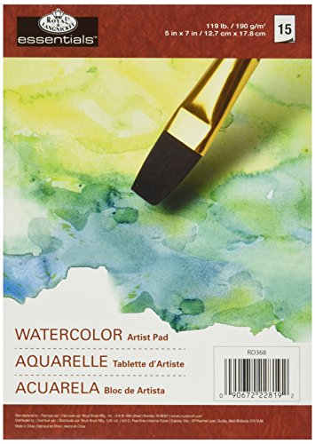 Essentials Watercolor Artist Paper Pad 5'X7'-15 Sheets
