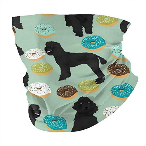 Xinflag@10 Máscara facial negra para perros caniche donuts verde menta a prueba de polvo a prueba de viento variedad cabeza pasamontañas para mujeres y hombres