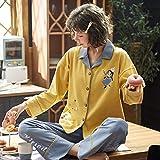 Wenhua Pajamas for Girls, Pijama Dulce Encantador de algodón de otoño e Invierno para Mujer, 6193_L, Piyama de Mujer Verano