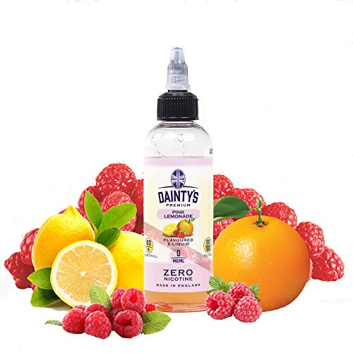 Daintys - Pink Lemonade - Eco Vape E-Liquid | 80ML | Sin Nicotina: 0MG | 50VG/50PG | E-Liquido para Cigarrillos Electronicos | Vaper | E Cigarette | E Shisha