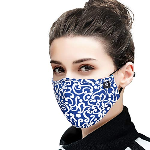 Cotton Face Mask with replaceable PM2.5 Activated Carbon Mask for Running, Traveling, Cycling Washable and Reusable Warm Windproof Mask
