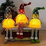 Gnomos Navidad, Elfo Navidad Muñeco Luces, Navidad Decoración...