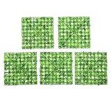 Panel de Plantas Artificiales, césped Artificial, plástico de Alta Resistencia de 5 Piezas/Juego para decoración de acuarios, Patio, Porche, cercas de Madera