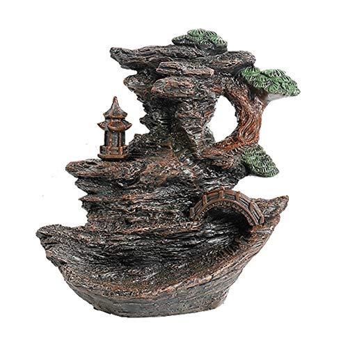 GFDFD Forma de Resina de Humo montaña Cascada de Reflujo Quemador de Incienso incensario Titular Decoración Aromaterapia Horno aromático