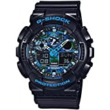 Casio GA100CB-1A G-Shock Man's Watch (Black/Blue)