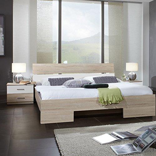 Schlafzimmerset 3-tlg »LIANA« Eiche sägerau, alpinweiß 180x200cm
