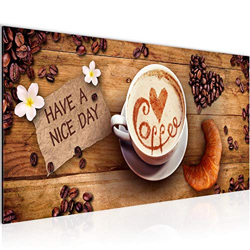 Wandbilder Küche Kaffee Modern Vlies Leinwand Wohnzimmer Flur Coffee Braun 501212a