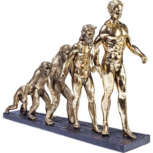 Kare Design Deko Figur Evolution, gold, Dekoobjekt gold, Dekoration Sideboard, (H/B/T) 42,5x58x18,5cm